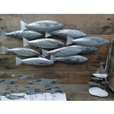 School of Fish Metal Wall Art Decoration by Shoeless Joe