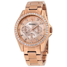 Fossil Riley Multifunction Rose Gold-plated Ladies Watch ES2811