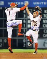 Jose Altuve / Carlos Correa 8x10 SIGNED PHOTO AUTOGRAPHED (Astros) REPRINT