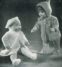 """Dolls clothes knitting pattern for 18"""" doll.  Laminated copy ( V Doll 10)"""