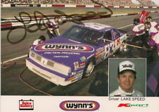 Lake Speed autographed 1987 KMART/WYNNS #83 OLDS photo