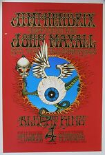 Bg 105 Flying Eyeball Rick Griffin Silk Screen Poster + Original Plates, 1989