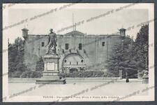 TORINO CITTÀ 349 MONUMENTO a PIETRO MICCA Cartolina viaggiata 1918