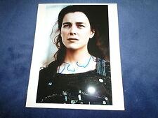 Olivia Williams signed autógrafo 20x25 cm en persona arnold schwarzenegger ten