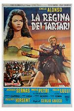 manifesto 2F film LA REGINA DEI TARTARI Chelo Alonso Mario Petri 1960