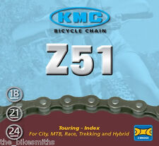"KMC Z51 5 6 7  8 Speed 3/32"" Bike Chain Bicycle w/ Master Link fits Shimano SRAM"