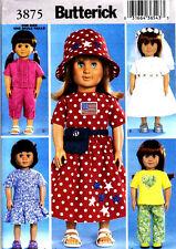 "REDUCED!  BUTTERICK 3875 Adorable 18"" Doll Clothes Pattern"