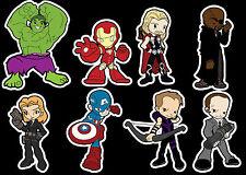 Lil Avengers vinyl sticker set - movie Iron Man Thor Hulk Captain America Fury