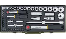 Proxxon 23040 Steckschlüsselsatz 56-teilig 1/2 und 1/4 Zoll, Umschaltknarren