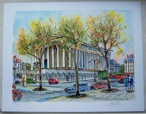 """Daniele Cambier """"Paris-Place de la Madeleine"""" Seriolithograph"""