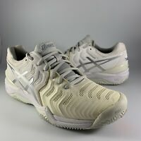 ASICS Gel-Resolution 7 Clay Tennis Shoes Women's Sz 9 White E752Y