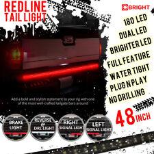 "2-ROW Truck Tailgate Tail Light Bar Led 48"" Stop Brake Running Turn Signal Rw"