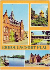 Plau (am See) Rathaus, Burgturm, Ferienheim des Ingenieurhochbau Berlin  1983