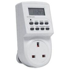 7 jours lcd digital electronic plug-in program 12/24 heure timer switch socket x1