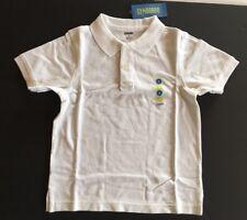 NWT Gymboree Boys Size 6 White Pique Short Sleeve Uniform Polo Shirt