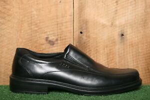 ECCO 'Helsinki' Black Leather Bicycle Toe Loafers Dress Shoe EUR 45   US 11-11.5