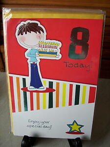 8 year old birthday cards