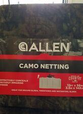 """Allen Camo Turkey/Deer Blind Netting Hunting MOSSY OAK Break-Up Country 12'x56"""""""