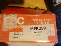 6375 EBC Rear Brake Shoes Vauxhall Cavalier Mk3 1.6