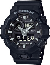 New Casio G-Shock GA700-1b Super Illuminator Ana-Digital 3D Black Men's Watch