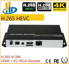 4K Video Audio Stream Decoder HDMI + riconoscimento AV RCA Output IP Camera live streaming