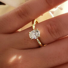 Natural 1.80 ct. Oval Cut Diamond Engagement Solitaire Ring G SI1 GIA Platinum