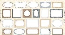 Panneau de tissu patchwork 21 étiquettes tons crème à coudre 60x110cm