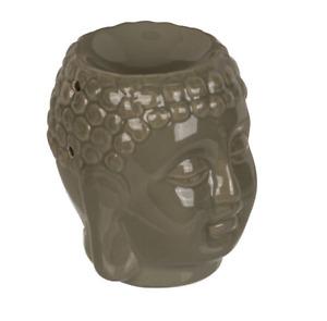 Dunkelgrau Keramik Thai Buddha Kopf Aromatherapie Öl/Wachs Schmelzen Burner