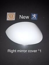 "Peugeot 206 206+ Right Driver Side Wing Mirror Cover Cap Near Side White ""New"
