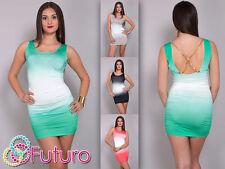 Women's Sleeveless Scoop Neck Synthetic Stretch, Bodycon Dresses