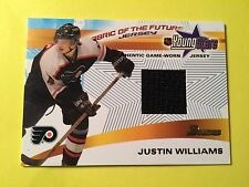 2001-02 Bowman Fabric Of The Future Young Stars Justin Williams Jersey