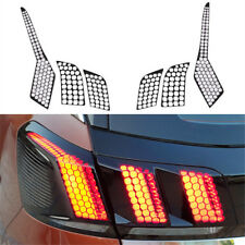 Rear Tail Light Lamp Honeycomb Trim Moulding Film For Peugeot 3008 GT II 17-18