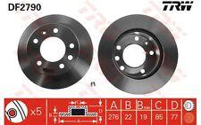 TRW Juego de 2 discos freno 276mm ventilado VOLKSWAGEN LT MERCEDES-BENZ DF2790