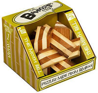 *NEW* Bamboozler Bamboozlers Wooden 3D Bamboo Puzzle Ball Puzzleball - MOTH BALL
