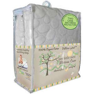 Dreamtex My Little Nest Pebbletex Waterproof Cotton Crib Mattress Pad Covers