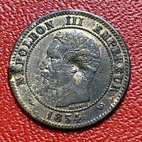 #3270 - RARE - 2 centimes 1854 W Lille TB+/TTB - FACTURE