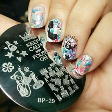 BP 29  Keep Calm Theme DIY Manicure Nail Art Stamping Template Image Plate