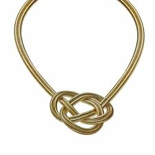 Woven Knot Necklace in 18K Gold-Plated Sterling Silver