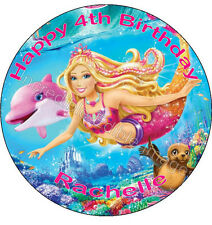 Barbie A Mermaids Tale Personalised Edible Cake Topper Party Decoration