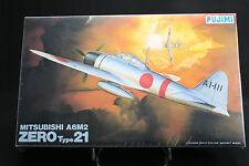 XB027 FUJIMI 1/48 maquette avion P2 700 Mitsubishi A6M2 Zero type 21 année 1987