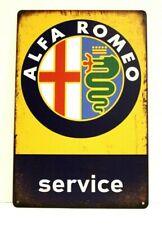 Alfa Romeo Italian Cars Tin Poster Sign Vintage Ad Style Man Cave Racing Service