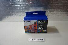 Epson 302XL 302 Ink Cartridge CMYK Set of 5 NEW OEM Sealed Current 2023 Date