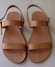 Ancient Greek - Natural Leather-Handmade in Crete - Strap Sandals