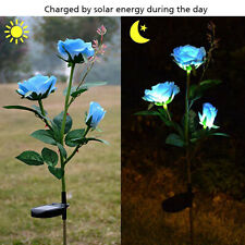 Upgraded 2Pack Solar Powered Lights w/8 LED Lily Folwer Light  Garden Outdoor