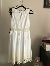 NEW!!  Ann Taylor Dress in White Cream Lace Details Women's Size 2 Sundress