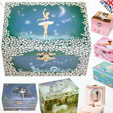 CHILDRENS KIDS MUSICAL JEWELLERY BOX WIND UP TRINKET MUSIC BOX PERFECT GIFT UK