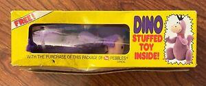 Flintstones Dino Stuffed Toy - Post Pebbles Cereal Premium - Unused in Box
