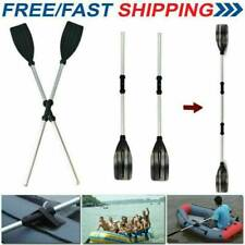 2Pcs 126Cm Durable Aluminium Kayak Paddles Lightweight Join Together Boat Oars K