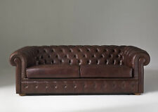 Chesterfield Sofa Polster Couch 3 Sitzer Schlafsofa + Bettfunktion Leder Sofas