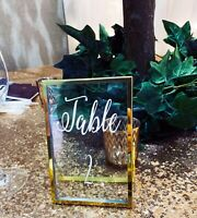 Gold Photo Freestanding Frames, Wedding Table Numbers,  Wedding Table Frames,